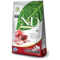 N&D Dog Adult Medium Chicken & Pomegranate Grain Free | Csirkehúsos és gránátalmás kutyaeledel