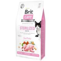 Brit Care Cat Sterilized Sensitive Fresh Rabbit - Gabonamentes nyúlhúsos eledel ivartalanított felnőtt macskáknak
