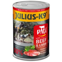 Julius-K9 Paté Beef & Liver   Marhahúsban gazdag pástétomos konzerv   60% -os hústartalom