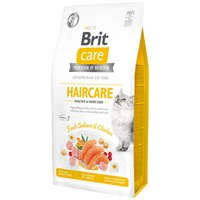 Brit Care Cat Haircare Healthy & Shinny Coat - Fresh Salmon & Chicken - Hipoallergén eledel törődést igénylő bundájú felnőtt macskáknak