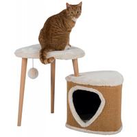 Trixie Eneas macskabútor plüss ülőfelülettel és odúval