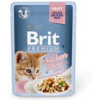 Brit Premium Cat with Gravy Chicken Fillets for Kitten | Csirkefilé kismacskáknak