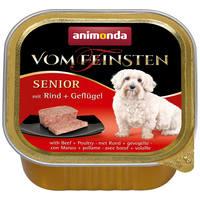 Animonda Vom Feinsten Senior – Marha- és szárnyashúsos kutyaeledel