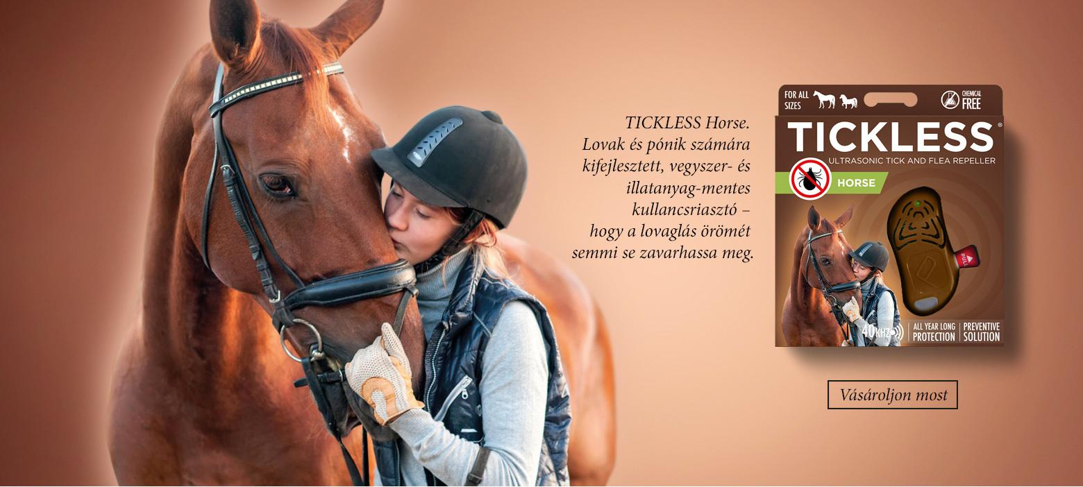 Tickless Horse ultrahangos kullancs- és bolhariasztó lovaknak