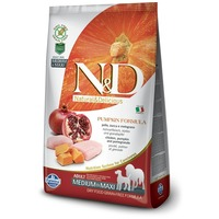 N&D Dog Grain Free Adult Medium/Maxi csirkehússal, sütőtökkel és gránátalmával | Gabonamentes
