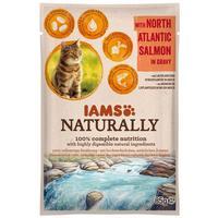 IAMS Naturally Cat – Észak-atlanti lazac falatok szószban