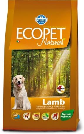 Ecopet Natural Lamb Mini | Érzékeny emésztésű kistestű kutyáknak ajánlott száraztáp