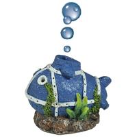 Happet halacska formájú levegőporlasztós akvárium dekoráció
