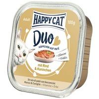 Happy Cat Duo marha- és nyúlhúsos pástétom falatkák alutálkában
