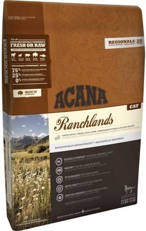 Acana Ranchlands Cat & Kitten macskaeledel vörös húsokból és vad süllőből
