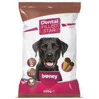 Boney Dental Filled Star - Alacsony zsírtartalmú töltött rudak kutyák részére
