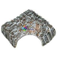 Négyszög alakú kerámia műszikla kunyhó