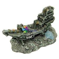 Mini hajóroncs akvárium dekoráció