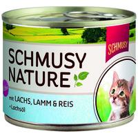 Schmusy Nature Kitten konzerv lazaccal és bárányhússal
