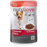 Nutrilove Dog szaftos marhahús alutasakban