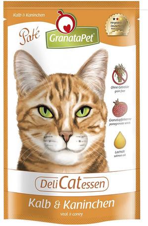 GranataPet DeliCatEssen borjú- és nyúlhúsos macskaeledel alutasakban