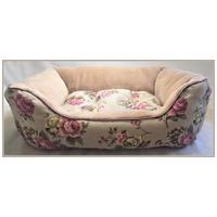 Windsor rózsamintás peremes kutyafekhely kivehető párnával