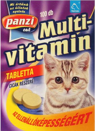 Panzi multivitamin tabletta cicáknak az ellenállóképességért