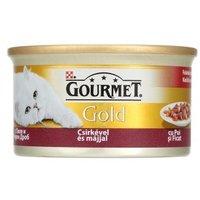 Gourmet Gold csirkehús, szív és máj szószban