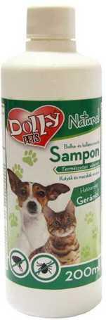 Dolly Natural bolha és kullancsriasztó sampon kutyák és macskák részére