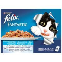 Felix Fantastic halas válogatás aszpikban - Multipack (12 x 100 g)