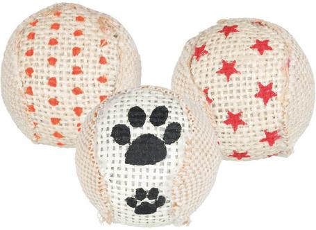 Trixie csörgő juta labdák cicáknak