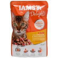 IAMS Cat Delights - Csirkehús és paprika aszpikban