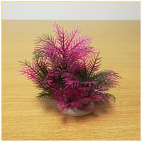Rózsaszín-zöldes akváriumi palás műnövény