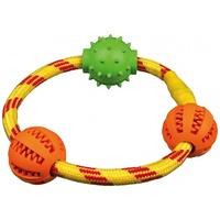 Trixie Denta Fun gumi labdák kötélkarikán