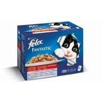 Felix alutasakos macskaeledel – Húsos falatok aszpikban – Multipack (12 x 100 g)