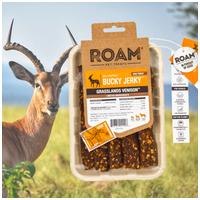 Roam - Dél-Afrikai szabad tartású füstölt antilop húscsíkok, jutalomfalat allergiás kutyáknak