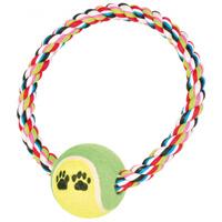 Trixie Denta Fun játék - Teniszlabda kötélkarikán