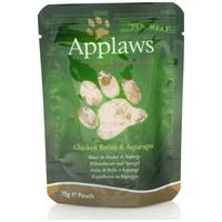Applaws alutasakos macskaeledel csirkehússal és spárgával zselében