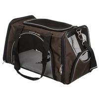Trixie Joe jól szellőző barna kutyaszállító táska