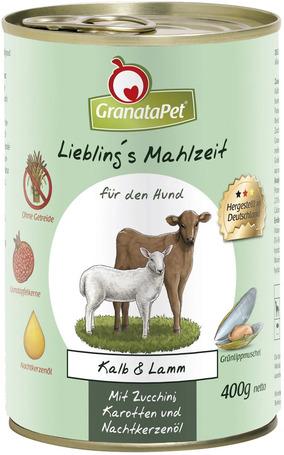 GranataPet borjús és bárányos konzerv kutyáknak