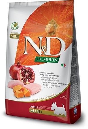 N&D Dog Grain Free Adult Mini sütőtök, csirkehús & gránátalma | Kis szemcseméret | Gabonamentes kutyatáp
