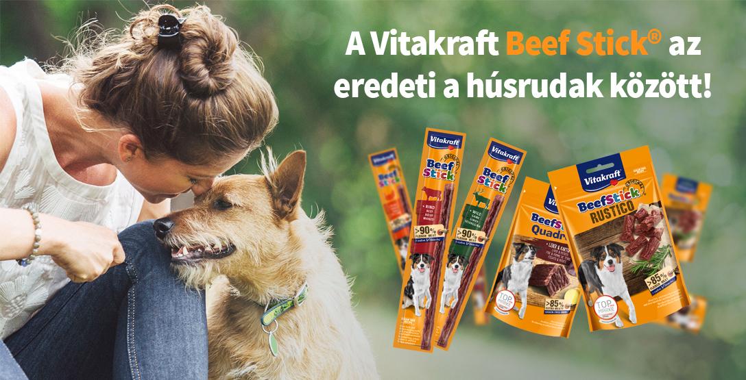 A Vitakraft Beef Stick az eredeti a húsrudak között!