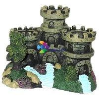Kis vár bástyákkal nano akvárium dekoráció