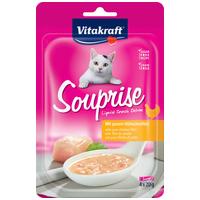 Vitakraft Souprise Liquid Snack Deluxe - Csirkemell filés, sárgarépás leves macskáknak