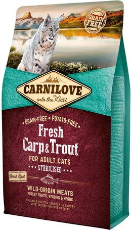 CarniLove Fresh Adult Cat Sterilised - Pontyos és pisztrángos száraztáp ivartalanított macskáknak