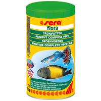 Sera Flora növényi lemezestáplálék spirulinával növényevő halaknak