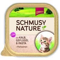 Schmusy Nature Kitten alutálkás macskeledel borjú- és baromfihússal
