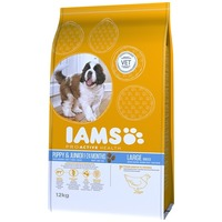 IAMS Dog Puppy & Junior Large Chicken | Csirkehúsos eledel kölyök és növendék kutyák részére