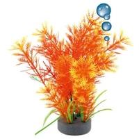 Happet levegőporlasztós narancssárga műnövény akváriumba