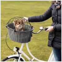 Trixie polyrattan kerékpár kosár kutyáknak szürke színben