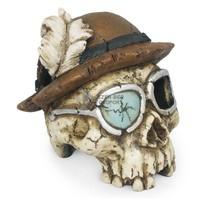 Thomas a felfedező koponya akváriumi dekor