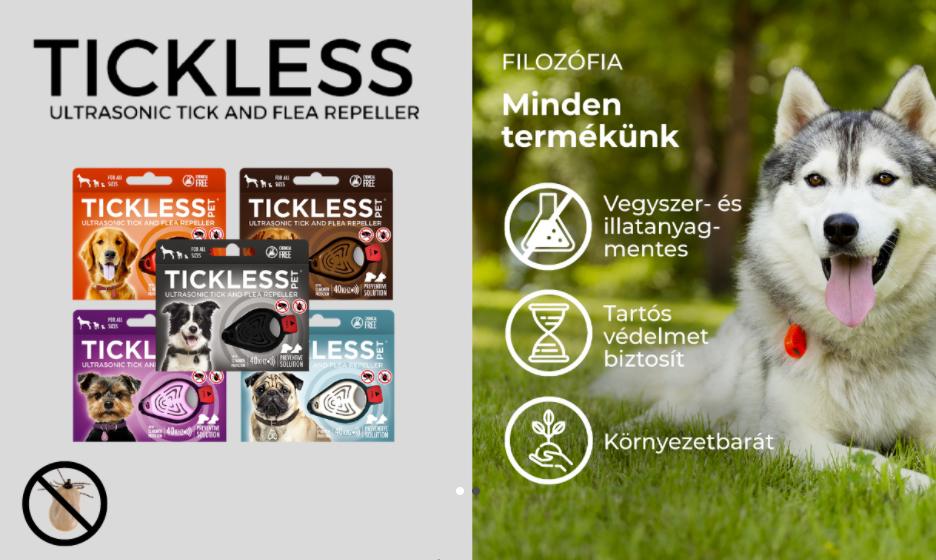 Tickless Pet ultrahangos riasztó