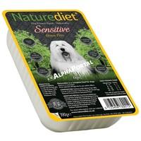 Naturediet Grain-Free Sensitive műanyag tálkás kutyaeledel lazaccal és fehér hallal