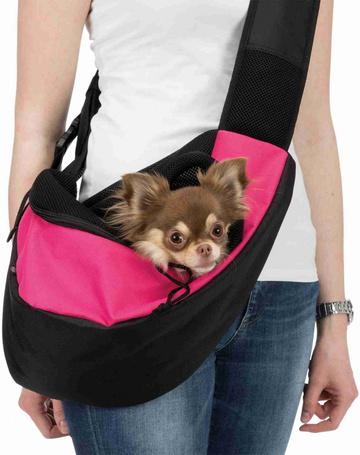 Trixie oldalt/elől hordható kis szállítótáska kutyáknak