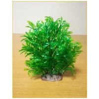 Tüskés levelű zöld akváriumi műnövény